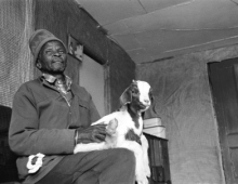 Man with a goat