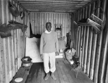 Man in a shack
