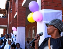 Guest speaker with learners