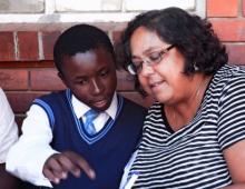 Teacher with a learner