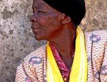 Old woman looking away